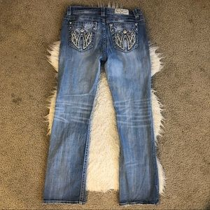 Miss Me boot cut jeans bling
